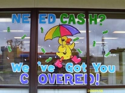 Spring window painting ideas at springleaf financial in renton wa
