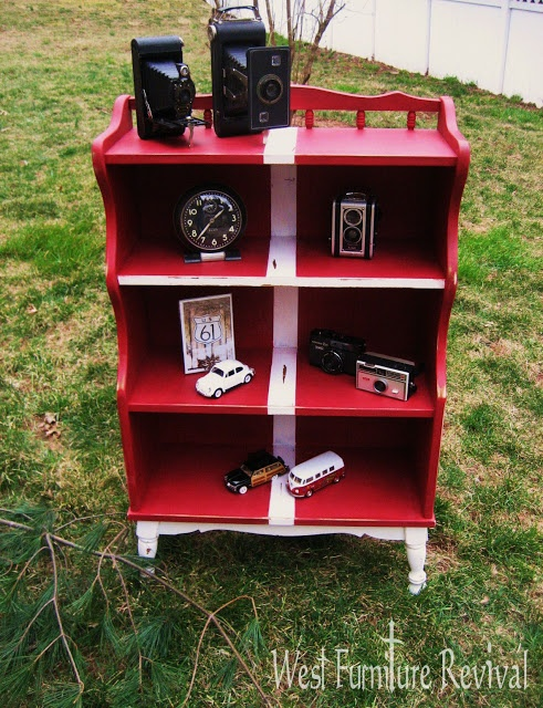 Vintage bookcase redo with chalk paint west furniture revival