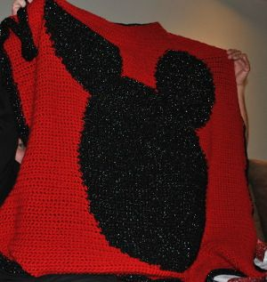 Mickey Mouse Crochet Baby Blanket Pattern : Mickey Mouse Afghan Crochet Pinterest