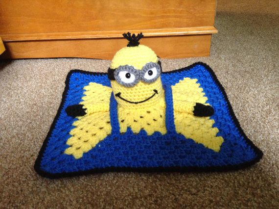 Crochet Pattern For Minion Blanket : Crochet - Despicable Me Minion Lovie/Lovey