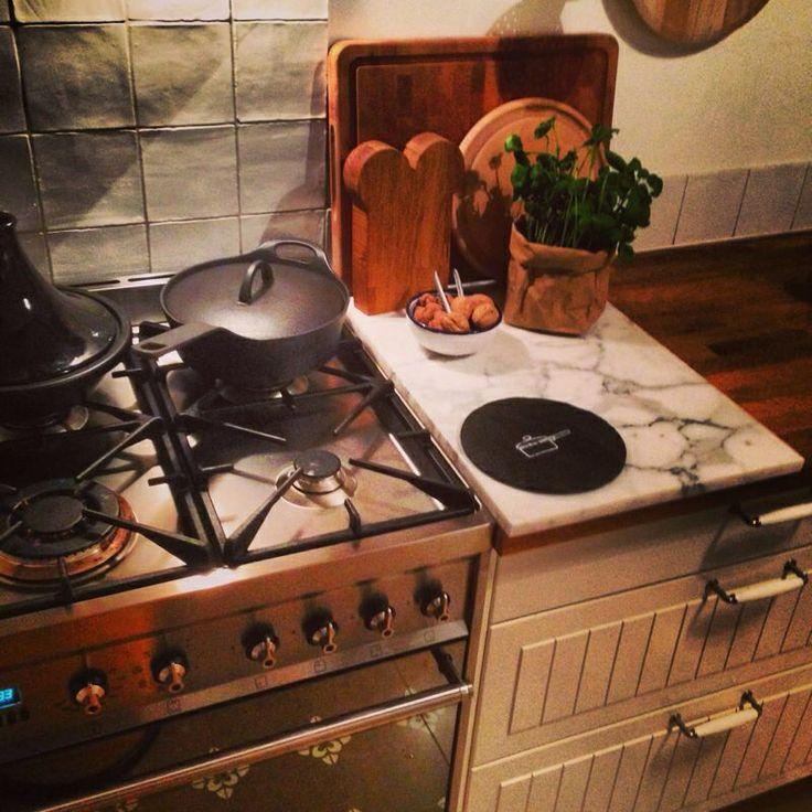 Marmeren Keuken Plaat : vondst bij het afvalbrengstation voor onze keuken: deze marmeren plaat