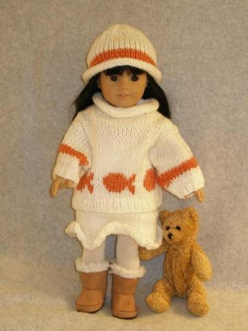 Knitting Pattern Central Amy Doll : CLOTHES DOLL DOWNLOADABLE KNITTING PATTERN PATTERN ...