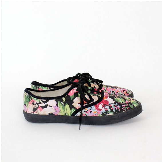 floral canvas sneakers 9