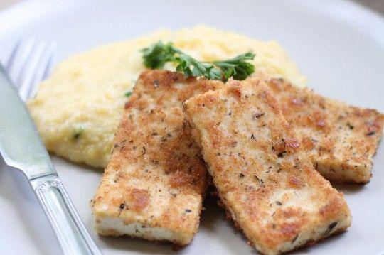 Polenta with Crispy Tofu Milanese | Food | Pinterest