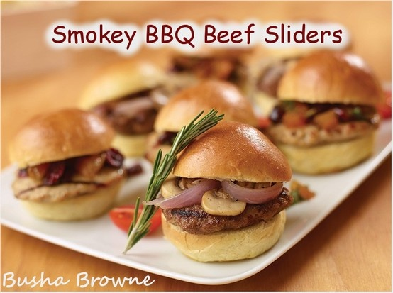 Barbecued Beef Sliders Recipe — Dishmaps