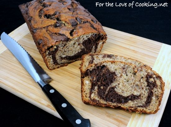 Marbled Chocolate Banana Bread | Food & Recipes | Pinterest