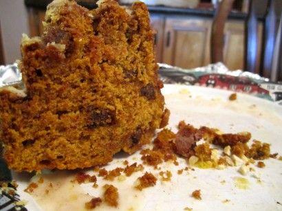 Pumpkin Chocolate Chip Spice Cake with Cinnamon Glaze | Recipe