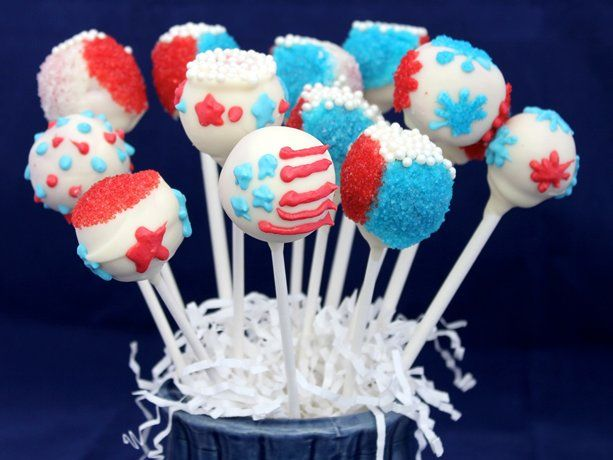 Red, White and Blue Cake Pops | Recipe
