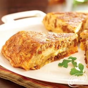 Spanish Tortilla with Eggs and Chorizo from Crisco