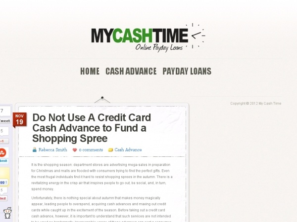 credit card cash advance rate definition