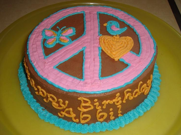 Cake Decorating Ideas Peace Sign : peace sign cake Cakes Pinterest