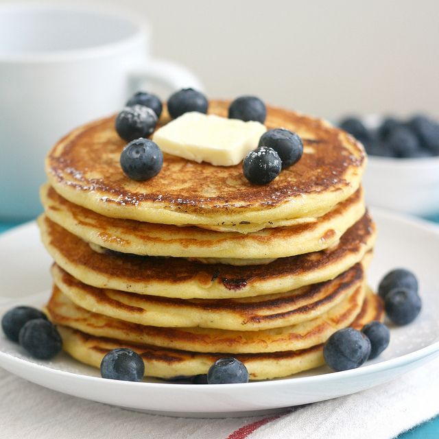 Blueberry Cornmeal Pancakes by Tracey's Culinary Adventures, via ...