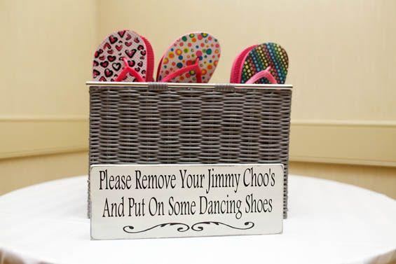 Colorful flip flop wedding favors