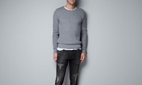 ROUND NECK MERINO WOOL SWEATER   Men fashion♀   Pinterest