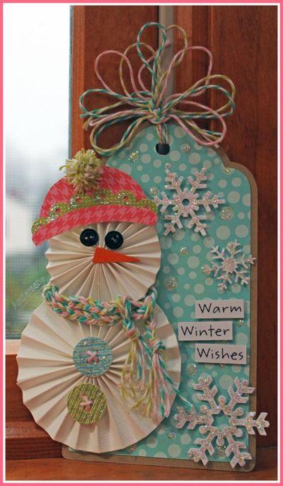 Love the rosette snowman by Kathleen Kelley Skou (Jillibean Soup).