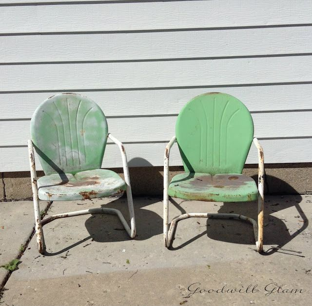 You won t believe the after on these retro clam shell chairs
