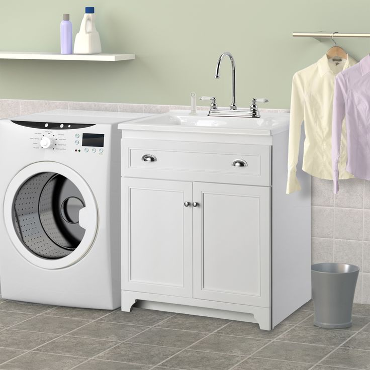 Presenza Utility Sink : Laundry Room Wall Cabinets Home Depot