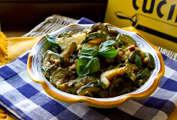 Italian Food Forever » Spicy Stewed Zucchini - Zucchini taking over ...