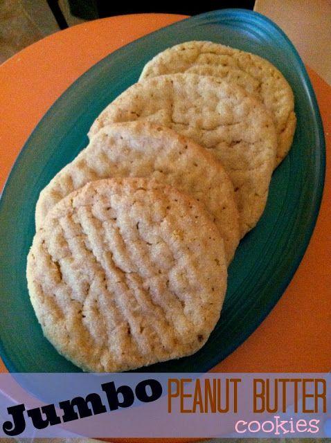 Jumbo Peanut Butter Cookies | Yummy~Desserts! | Pinterest