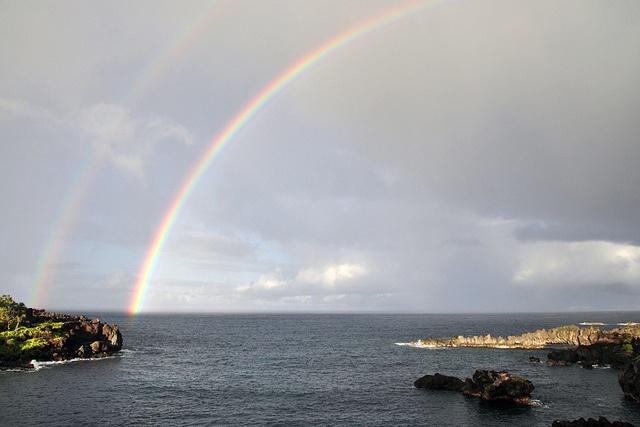 "Hana, Maui, Hawaii ""double rainbow"" by db digital, via Flickr"