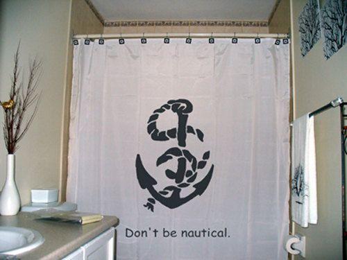 Ship boat anchor shower curtain bathroom decor kids bath sailor man n
