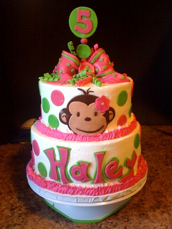 Mod Monkey Cake | Lil Girls stuff & Ideas for room & B-Day etc... | P...
