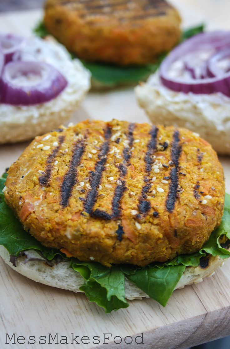 Sesame Carrot and Chickpea Burgers are vegetarian and grill-friendly ...