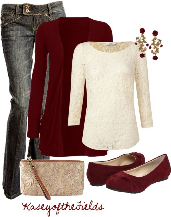 Cute for Winter....cranberry is such a pretty color.