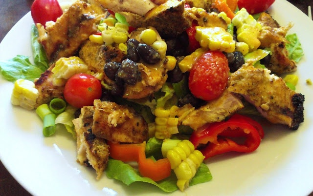 Santa Fe Grilled Chicken Salad with Chili-Lime Dressing