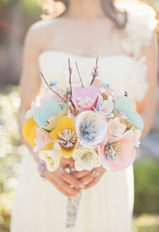 すべての折り紙 折り紙 ブーケの作り方 : Paper Flower Bouquet