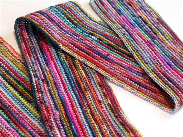 Knit Scarf Pattern Using Sock Yarn : Ravelry: runamok13s Sock Yarn Scarf Knit & Crochet: Stitches &...