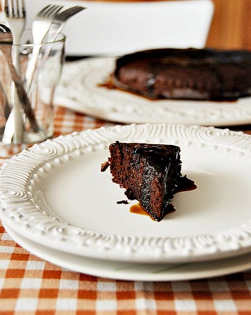 Chocolate Fudge Cake with Coffee Syrup | Fuss Free Cooking