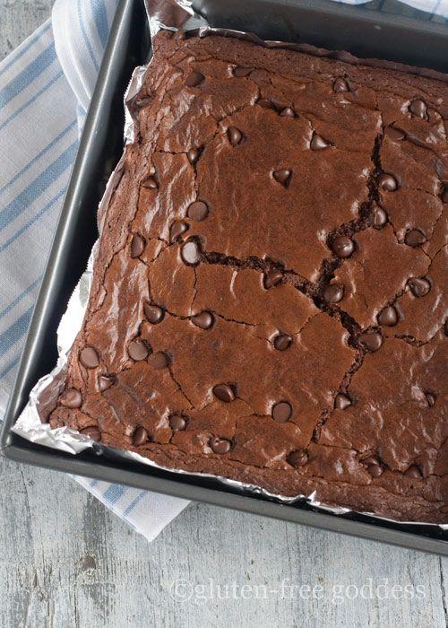 Gluten free dark chocolate brownies   food   Pinterest