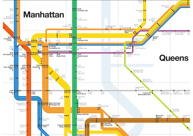 nyc subway by massimo vignelli design infographics