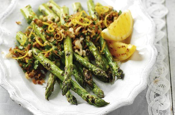 Asparagus with crunchy lemon crumbs | Food | Pinterest