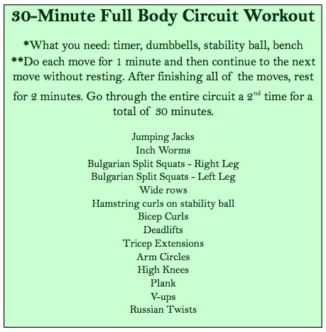 30-Minute Total Body Circuit Workout workouts