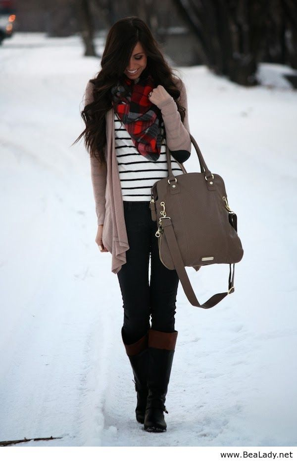 Casual Winter Outfit Classic With A Trendy Twist Pinterest