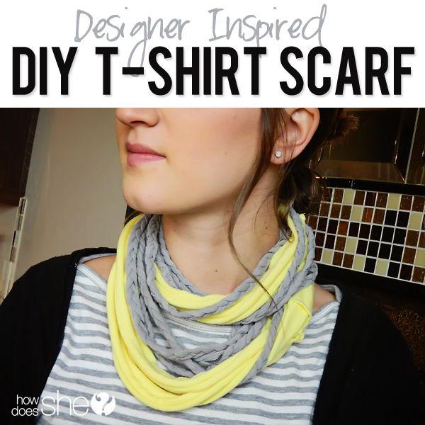 DIY TShirt Scarf from howdoesshe.com