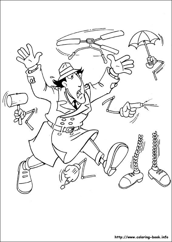 inspector gadget coloring pages - photo#11
