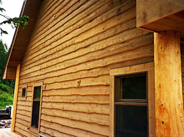 Cedar wavy edge siding future house ideas pinterest E log siding