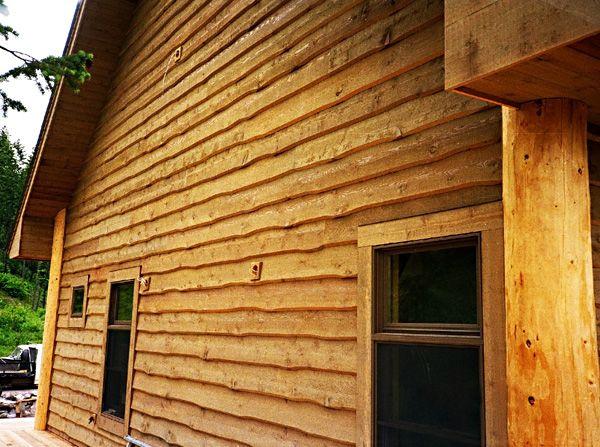 Cedar wavy edge siding future house ideas pinterest E log siding