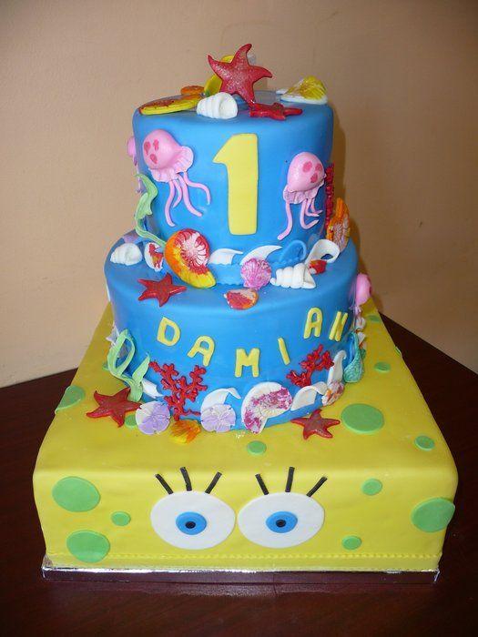 Spongebob Birthday Cake Design : Spongebob Cake Food: Cake Ideas Pinterest