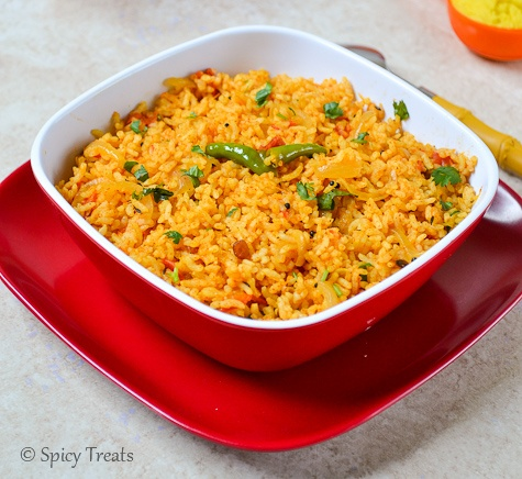 Spicy Treats: Home Made Ginger Garlic Paste N Quick Tomato Rice ~ Easy ...