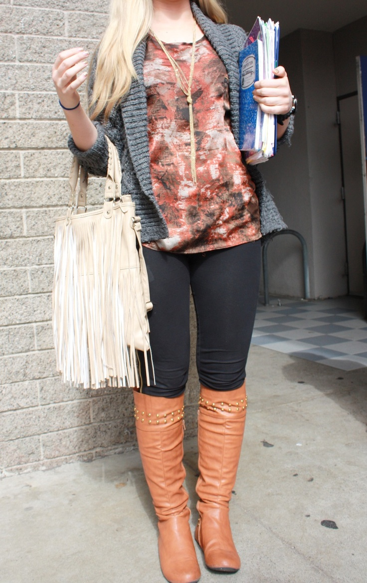 How to wear brown boots | Light brown/ Brown boots | Pinterest