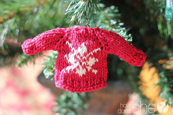 Knit Pattern Sweater Ornament : mini sweater ornament pattern Crochet and Knitting ...
