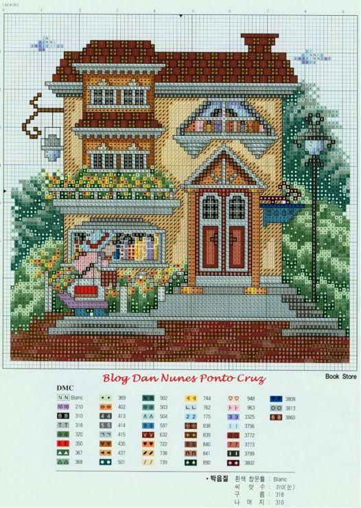 Схемы вышивок домов 65