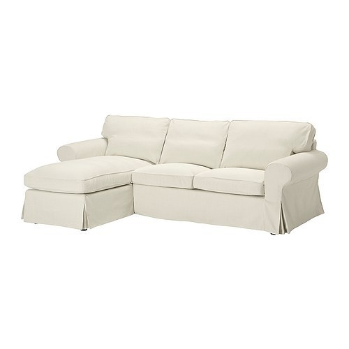 Ikea slipcover ektorp chaise blekinge white sofa sectional for Chaise couch slipcover