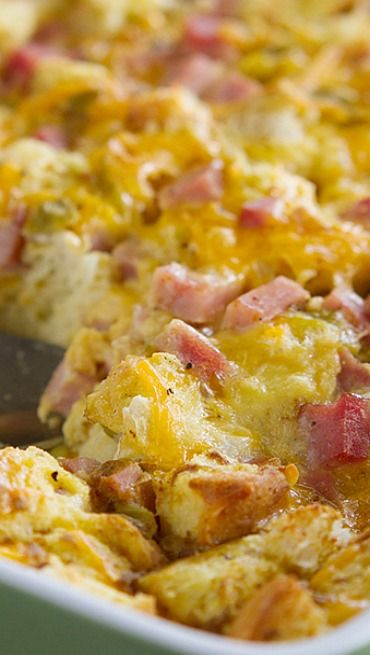 Ham and Cheese Breakfast Casserole | Recipe