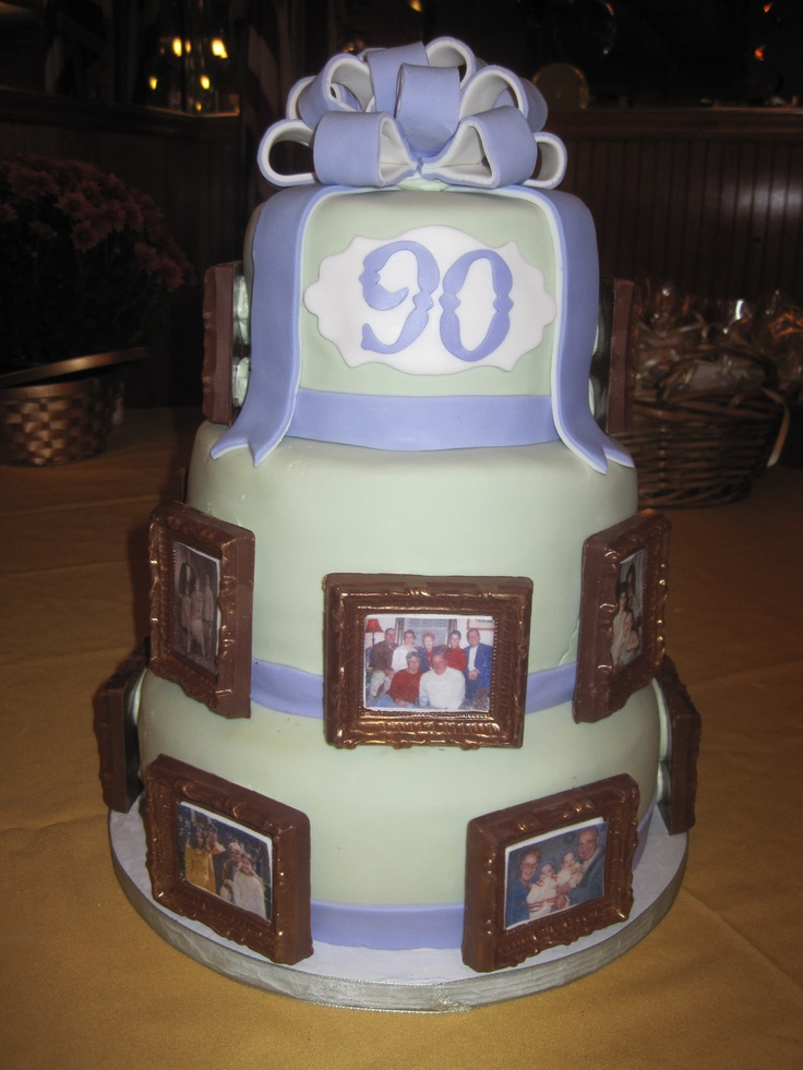 90th Birthday Cake birthday cakes Pinterest