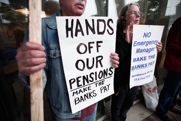 wall st raiding pension funds